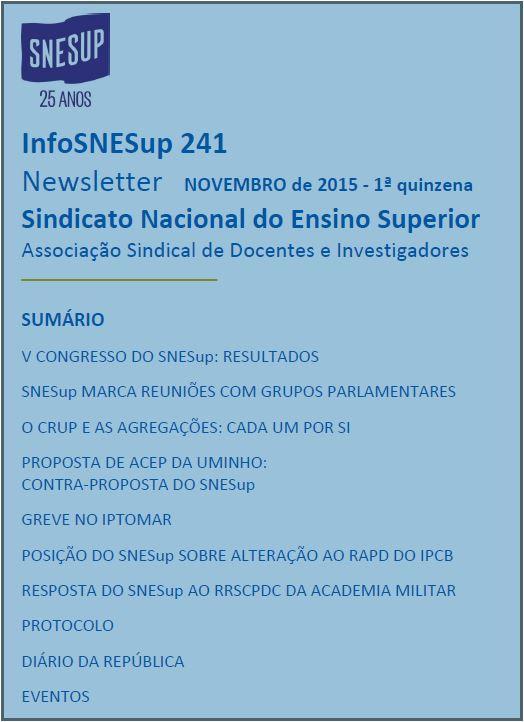 Newsletter InfoSNESup 241
